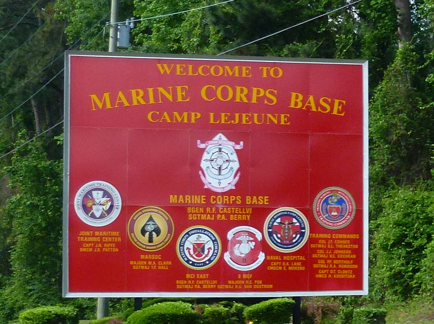 camp lejeune Marine corps base camp lejeune is located in jacksonville, north carolina and encompasses 246 square-miles camp lejeune is home to the marine expeditionary force (ii mef) which is composed of ground, air and logistics units.