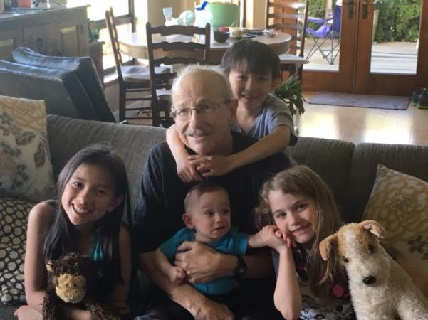 dave with grands